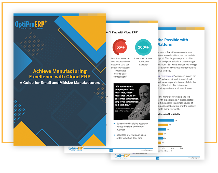Achieve Manufacturing Excellence with Cloud ERP